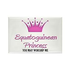 Equatoguinean Princess Rectangle Magnet