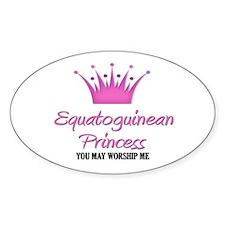 Equatoguinean Princess Oval Decal