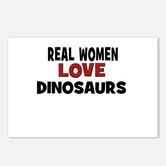 Real Women Love Dinosaurs Postcards (Package of 8)