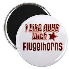 """I like guys with Flugelhorns 2.25"""" Magnet (10 pack"""