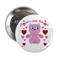 """Grandpa's little valentine 2.25"""" Button"""