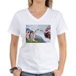 Creation / Ger SH Pointer Women's V-Neck T-Shirt