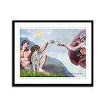 Creation / Ger SH Pointer Framed Panel Print