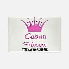 Cuban Princess Rectangle Magnet