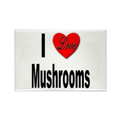 I Love Mushrooms Rectangle Magnet (10 pack)