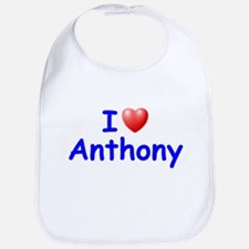 I Love Anthony (Blue) Bib