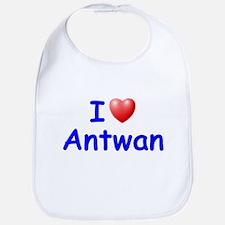 I Love Antwan (Blue) Bib