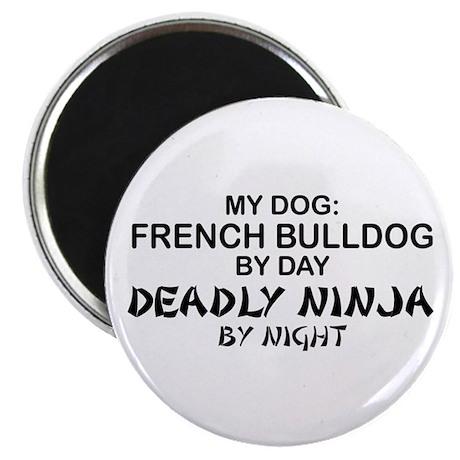 French Bulldog Deadly Ninja Magnet