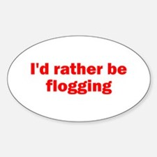 Flogging Oval Decal