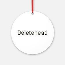 Deletehead Ornament (Round)
