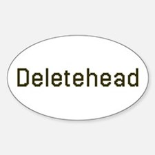 Deletehead Oval Decal