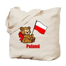 Poland Teddy Bear Tote Bag