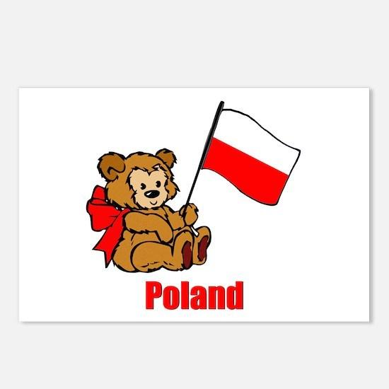 Poland Teddy Bear Postcards (Package of 8)