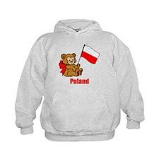 Poland Teddy Bear Hoodie