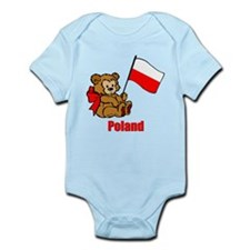 Poland Teddy Bear Infant Bodysuit