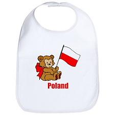Poland Teddy Bear Bib
