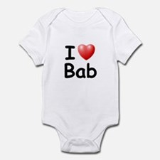 I Love Bab (Black) Infant Bodysuit