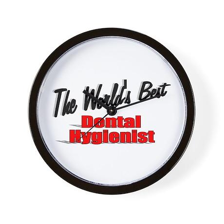 """The World's Best Dental Hygienist"" Wall Clock"