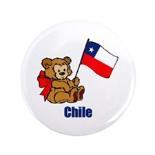"""Chile Teddy Bear 3.5"""" Button (100 pack)"""