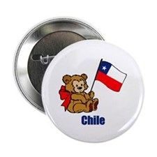 """Chile Teddy Bear 2.25"""" Button (100 pack)"""