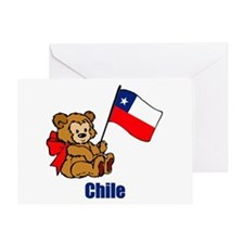 Chile Teddy Bear Greeting Card