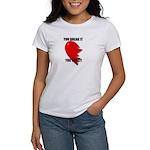 love hurts brokenheart Women's T-Shirt