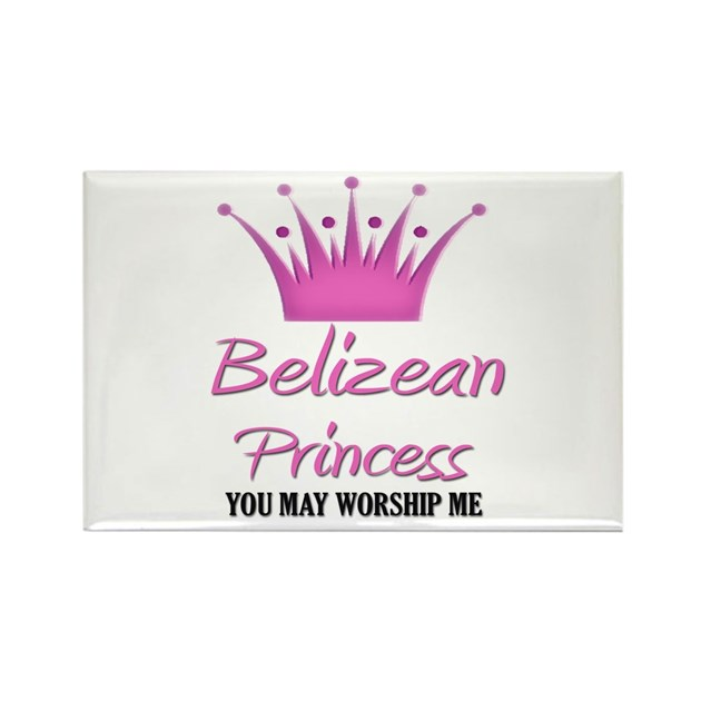 Belizean princess rectangle magnet by nationality for Belizean style house plans