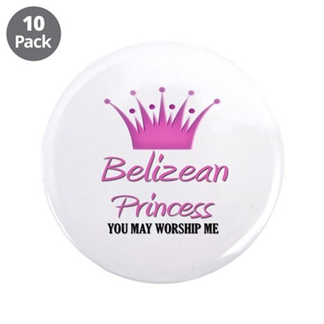 """Belizean Princess 3.5"""" Button (10 pack)"""