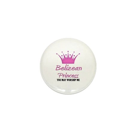 Belizean Princess Mini Button (10 pack)
