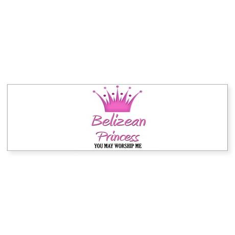 Belizean Princess Bumper Sticker