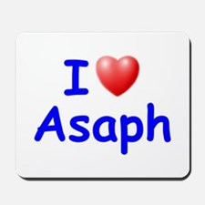 I Love Asaph (Blue) Mousepad