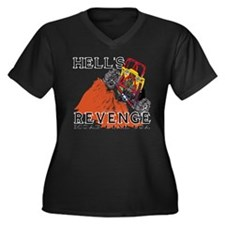 Hells Revenge Women's Plus Size V-Neck Dark T-Shir