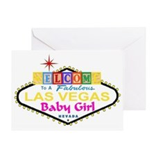 Welcome To A Fab Las Vegas Baby Girl Blocks Card