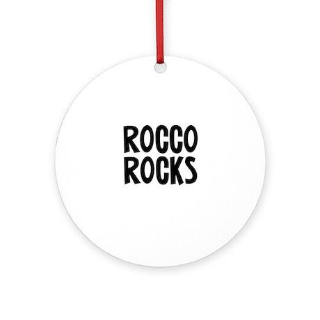 Rocco Rocks Ornament (Round)