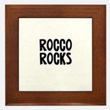Rocco Rocks Framed Tile