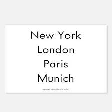 """""""NEW YORK, LONDON, PARIS, MUNICH..."""" Postcards (Pa"""