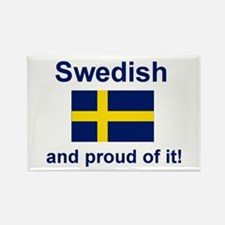 Proud Swede Rectangle Magnet