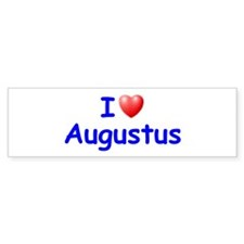I Love Augustus (Blue) Bumper Bumper Sticker