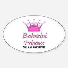 Bahraini Princess Oval Decal