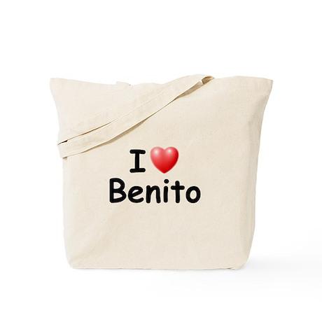 I Love Benito (Black) Tote Bag