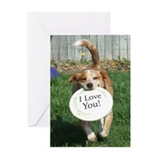 I Love You Beagle Mix Greeting Card