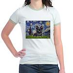 Starry / Black Skye Terrier Jr. Ringer T-Shirt