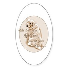 Golden Love Oval Decal