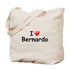 I Love Bernardo (Black) Tote Bag