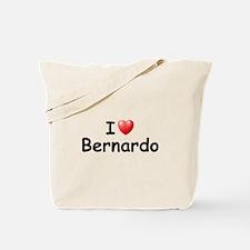 I Love Bernardo (Black) Tote Bag