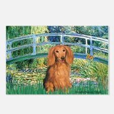 Bridge & Doxie (LH-Sable) Postcards (Package of 8)
