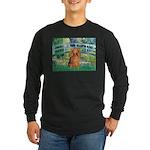 Bridge & Doxie (LH-Sable) Long Sleeve Dark T-Shirt