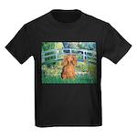 Bridge & Doxie (LH-Sable) Kids Dark T-Shirt