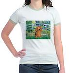 Bridge & Doxie (LH-Sable) Jr. Ringer T-Shirt