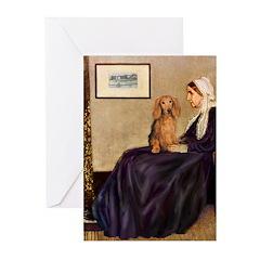 Whistler's /Dachshund(LH-Sabl) Greeting Cards (Pk